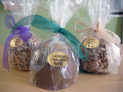 caramel apples from Sherm Edwards Candies