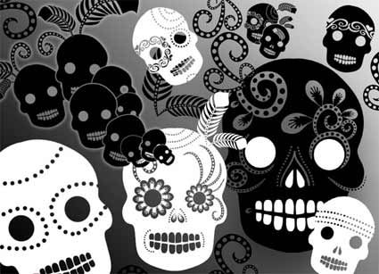 day of the dead brush set